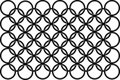 Seamless black-and-white pattern with round Royalty Free Stock Image