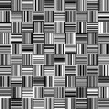 Seamless Black and White Straight Vertical and Horizontal Variable Width Stripes Royalty Free Stock Photo
