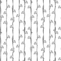 Seamless black and white vertical lines pattern