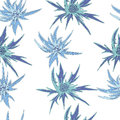 Seamless blooming, floral pattern.Vector hand drawn illustratio