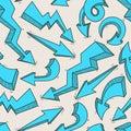 Seamless blue arrows
