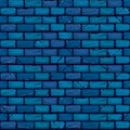 Seamless blue Brick Wall Background Texture Pattern Royalty Free Stock Photo