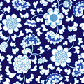 Seamless blue floral porcelain china background Royalty Free Stock Photo