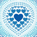 Seamless blue heart abstract background vector love pattern Royalty Free Stock Images