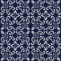 Seamless Blue Japanese Background Spiral Cross Curve Flower