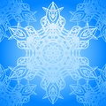 Seamless blue pattern with elegance snowflakes Royalty Free Stock Images