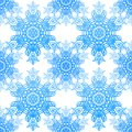 Seamless blue pattern with elegance snowflakes Stock Photo
