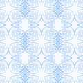 Seamless blue pattern. Imitation of painting on porcelain in the Russian style Gzhel