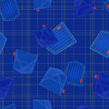 Seamless blue pattern with jeans pockets Royalty Free Stock Image