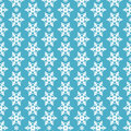 Seamless blue pattern with snowflakes. Stock Photo