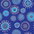 Seamless blue pattern with snowflakes vector illustration Royalty Free Stock Photography