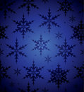 Seamless Blue Snowflake Background Stock Photos