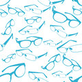 Seamless blue spectacle pattern vector image of glasses and spectacles background Royalty Free Stock Image