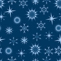 Seamless blue stars Royalty Free Stock Image