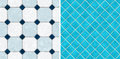 Seamless blue tone mosaic tiles Royalty Free Stock Photo