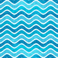 Seamless blue wave striped pattern with waves in grunge style vector eps Royalty Free Stock Image