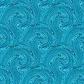 Seamless blue waves texture vector illustration Stock Photos