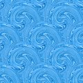 Seamless blue waves texture vector illustration Royalty Free Stock Photo