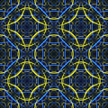 Seamless. Blue-yellow fractal background Royalty Free Stock Image