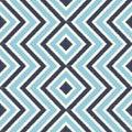 Seamless blue zigzag rhombus stripes pattern Royalty Free Stock Photo