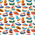 Seamless boat pattern Stock Photography