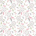Seamless boho pattern. Vector image on national American motifs.
