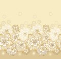 Seamless border decor blossoming flowers Royalty Free Stock Photos