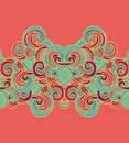Seamless border wave pattern in japanese style Royalty Free Stock Photography