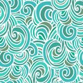 Seamless border wave pattern in japanese style Stock Photography