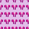 Seamless bow pattern on pink background cute fashion bowknot vector illustration