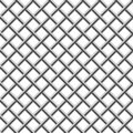 Seamless braided diagonal grille Royalty Free Stock Image