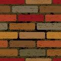 Seamless brick wall Stock Photography