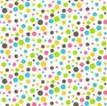 Seamless Bright Abstract Dots Chaos Pattern
