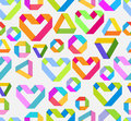 Seamless bright background with paper heart Royalty Free Stock Photo