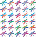 Seamless bright colorful dragonflies background Royalty Free Stock Image