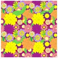 Seamless bright colorful floral patterт