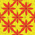 Seamless bright floral pattern vector illustratio red and yellow illustration Stock Photo