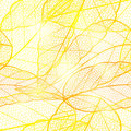 Seamless bright golden autumn leaf background. Glittering golden