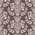 Seamless brown and beige floral wallpaper Royalty Free Stock Photo