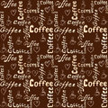 Seamless brown coffee pattern