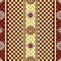 Seamless brown floral pattern Stock Photos