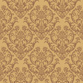 Seamless brown floral wallpaper Royalty Free Stock Photography
