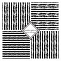 Seamless brush strokes careless set of pattern with lines abstract background made using of smears black and white hand drawn Stock Photos