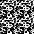 Seamless brushpen textile pattern grunge texture.Trendy modern i
