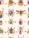 Seamless bug pattern Stock Photography
