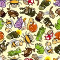 Seamless bug pattern Royalty Free Stock Photography