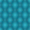 Seamless bulged pattern blue stripes Stock Photo