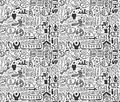 Seamless business pattern cartoon vector illustration Stock Images