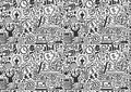 Seamless business pattern cartoon vector illustration Stock Photo