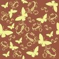 Seamless butterflies Stock Image